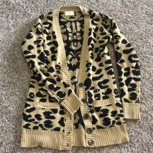 Hot print for fall! Leopard button cardigan